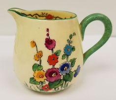 Mariposa de la Corona de Staffordshire de China juego de té de la vendimia de la Copa Hollyhocks 742202 Limón.  7 • $ 99.00