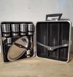 Vintage Travel Bar by Ever Wear with Key Mid Century Modern Liquor Case by HailleysCloset on Etsy
