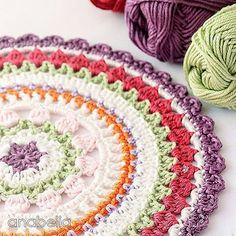 Anabelia Craft Design @anabeliahandmade Crochet mándalas ...Instagram photo | Websta (Webstagram)