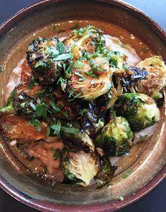 Greek Honey-Roasted Brussels Sprouts with Chestnut Skordalia | Greek Food - Greek Cooking - Greek Recipes by Diane Kochilas