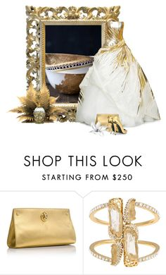 """Black & Gold Mimicry"" by flowerchild805 ❤ liked on Polyvore featuring Tory Burch, Kara Ross and Giuseppe Zanotti"