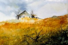 Another watercolor by Patrick White #watercolor jd