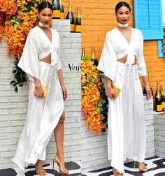 Chanel Iman at Veuve Clicquot's second annual Clicquot Carnival at Museum Park in Miami on February 20, 2016