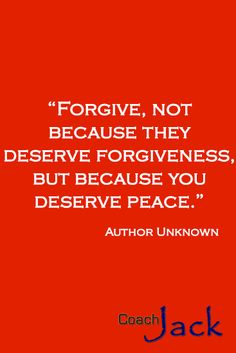 Forgiveness is not just for those we forgive. It is for us, to free us from the hate that ties us to a past that no longer exists and to an action that was not our own.