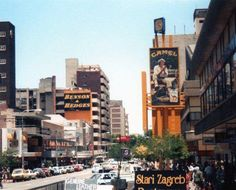 Kotze Street looking west Johannesburg City, Golden Days, The Old Days, Street Look, South Africa, Landscape Photography, Times Square, Cities, Old Things