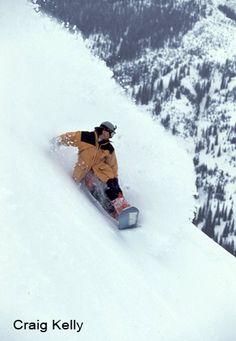 The original snow surfer Craig Kelly - Island Lake Lodge