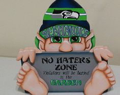 Yes ~ Seattle Seahawks inspired gnome funny sign ~ Have fun! Seahawks Gear, Seahawks Fans, Seahawks Football, Best Football Team, Football Season, Seahawks Apparel, Seahawks Memes, Football Baby, Sport Football