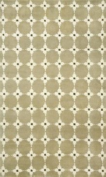 """42""""x66"""" Palermo Squares Neutral Rug - transitional - Rugs - Transocean"""