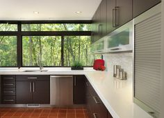 Modern Kitchen - modern - kitchen - providence - RI Kitchen & Bath//quartz countertops, thick edge called v-fold