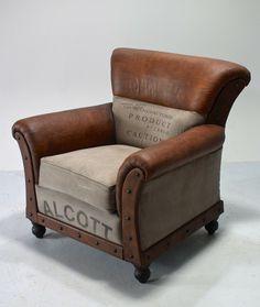 Fotel Vintyage Industrial Loft Style -  Loftowe Meble Industrialne