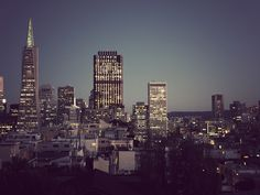 San Francisco by idleformat, via Flickr San Francisco Skyline, New York Skyline, Skyscraper, Building, Travel, Skyscrapers, Viajes, Buildings, Destinations