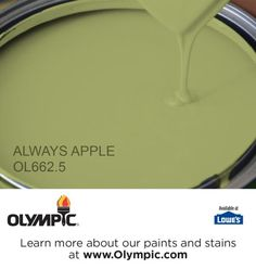 ALWAYS APPLE OL662.5 is a part of the greens collection by Olympic® Paint.