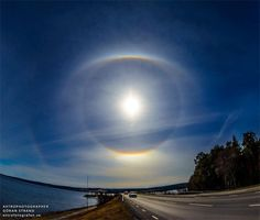 Halo around the sun, seen from Sweden on April 24, 2014 and captured by Fotograf Goran Strand.