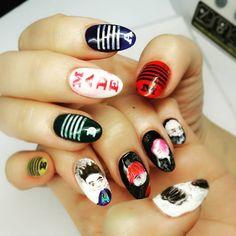 Thx my manicurist help me to do tis /✔ #bigbang#made#tour#nailart#nailswag#2015#bigbangvip#bigbangmade#singapore#bigbangnailart