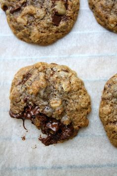 Lily's Kitchen Book: Cookies moelleux aux chocolat noir et flocons d'avoine, juste de la gourmandise