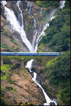 Railroad Bridge Near Dudhsagar Falls