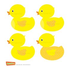 Rubber Duckie Ducky Duckling Yellow Ducks Baby Ducks Clipart Clip Art for Commercial Use or Personal Use DIY Baby Shower Invitations 10062. $4.20, via Etsy.