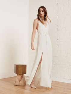 This Collection Will Make You Consider Buying A Second Wedding Dress #refinery29  http://www.refinery29.com/reformation-bridal#slide-11  Beach brides, listen up!Reformation Citrine Dress, $518, available at Reformation. ...
