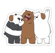 Latest Free of Charge we bare bears Printable Stickers Concepts Among the list of (many) delights from the world wide web can be printables. Meme Stickers, Cartoon Stickers, Tumblr Stickers, Printable Stickers, We Bare Bears Wallpapers, Cute Wallpapers, We Bear, Bear Wallpaper, Dibujos Cute