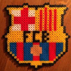 Bügelperlen / perler beads - Football FC Barcelona Activities For Kids, Crafts For Kids, Arts And Crafts, Fc Barcelona, Hama Beads, Lisa S, Beaded Animals, Bead Crafts, Beading Patterns
