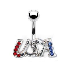 Summer belly ring! 4th of the July