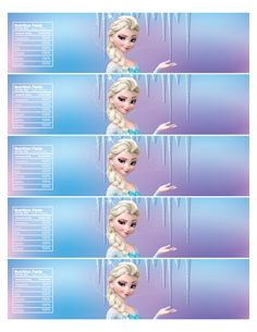 9 Best Images of Free Printable Frozen Water Label - Disney Frozen Water Bottle Labels, Frozen Water Bottle Labels Free Printable Party and Frozen Water Bottle Labels Printable Free Frozen Themed Birthday Party, Disney Frozen Birthday, Frozen Party, 4th Birthday, Frozen Free, Frozen Water, Free Frozen Invitations, Printable Water Bottle Labels, Water Party