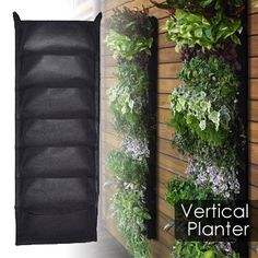 Vertical Hanging Garden Planter No garden space, no worries. With this vertical hanging garden planter you can grow plants or vegetables anywhere; indoors or outdoors.  Only $33