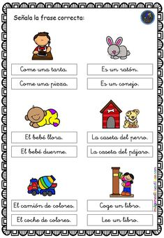 Bilingual Education, It Cast, Comics, Spanish, Literacy Games, Educational Activities, Writing, Reading, Word Reading