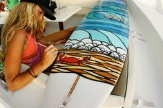 Surfboard Art Work - At last.......I have found my calling in life. I can't ride one, but I could definitely paint one!