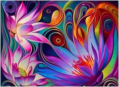 New Diamond Painting Kits for Adults Kids, Awesocrafts Colorful Lotus Flowers Eyes Full Drill DIY Diamond Art Embroidery Paint by Numbers with Diamonds (Lotus) Fantasy Paintings, Cross Paintings, Fantasy Art, Art Paintings, Abstract Flowers, Abstract Art, Painting Flowers, Lotus Painting, Lotus Drawing