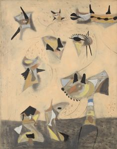 Floating by Adolph Gottlieb, 1945, Guggenheim Museum The Solomon R. Guggenheim Foundation Anonymous gift, 2011 Art © Adolph and Esther Gottlieb Foundation/Licensed by VAGA, New York Medium: Oil, gouache and casein on canvas