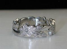 Signed   hand made  Floral Flower   Vintage heavy by gems4borth