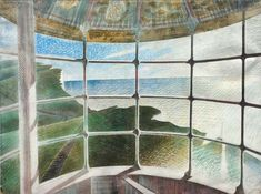 Eric Ravilious Belle Tout Lighthouse. On the hottest day of the year- such a feeling of summer.