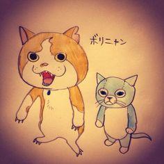 ジバニャンとボリスが似てるってことで息子にプレゼントしたジバボリニャン|higuchiyuko|note