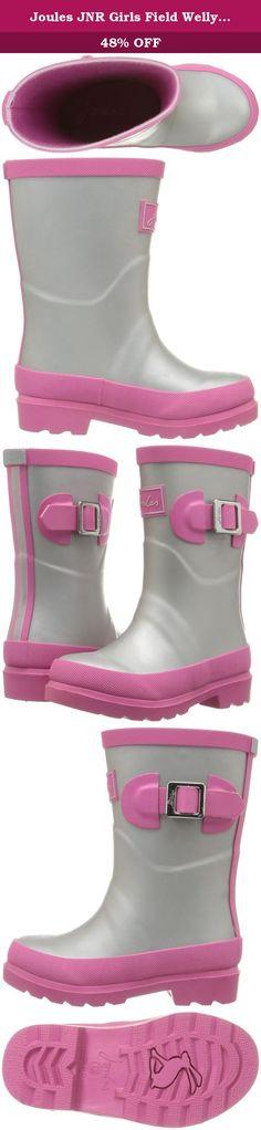 Girls Childrens Kids Pink Rubber Wellies Rain Snow Boots Zip Buckle Size 12-5