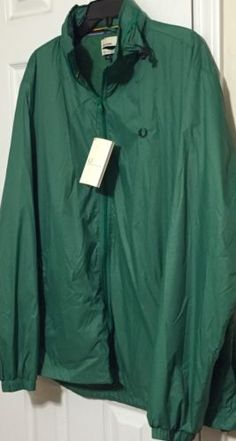 41651baec023 NWT FRED PERRY BRADLEY WIGGINS Men's Green NYLON PACK AWAY CASUAL JACKET  Size XL