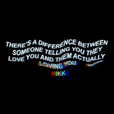 There's a difference between