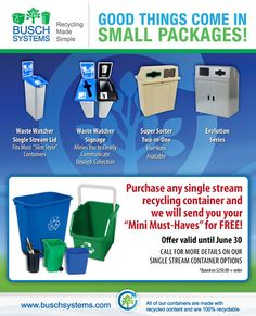 Recycling Bin Promo for June!