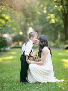 Mother son photo, Savannah wedding, Georgia, gold, neutral, romantic, ring bearer