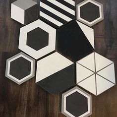 it's all about hexes right now... which pattern makes your heart flutter? thank you for sharing your tile project with us @pacific_edge_builders! #cletile #tiletheworld
