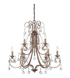 Quoizel Lighting Capulin 9 Light Chandelier in Empire Gold CPN5009EG photo