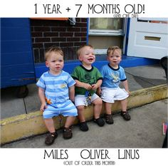 19 months! #triplets #cute #baby