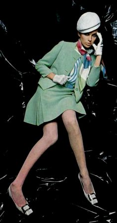 1967 Philippe Venet. 1960s fashion images.