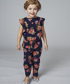 An on trend jumpsuit with a pretty floral print designed exclusively for Mothercare.
