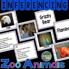 Inferencing Task Cards, Recording Sheets and Answer Keys with Zoo Animals - Resource Includes: *32 Task Cards with Color Photographs *32 Task Cards with Color Photographs and Vocabulary Words *32 Task Cards with Words Only *32 Task Cards with Inferencing Questions *3 Recording Sheets *3 Answer Keys #TpT #FernSmithsClassroomIdeas