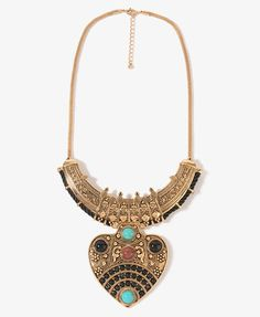 Tribal Style Bib Necklace | FOREVER21 - 1000047802