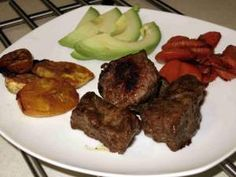 What's For Dinner? - Steak, Baked Maduros, Roasted Carrots, Avocado - Urban Paleo Chef