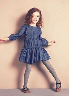 Little Girl Fashion, Kids Fashion, Little Girl Dresses, Girls Dresses, Vestidos Sport, Moda Kids, Beautiful Little Girls, Kid Styles, Kind Mode