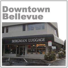 Downtown Bellevue Bergman Luggage The Downtown Bellevue Store store is located at:  881 Bellevue Way NE Bellevue WA 98004  Phone (425)454-8689