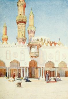 Tyrwhitt, Walter (1859-1932) - Cairo, Jerusalem, and Damascus 1912, Mosque of El-Azhar, University of Cairo. #egypt